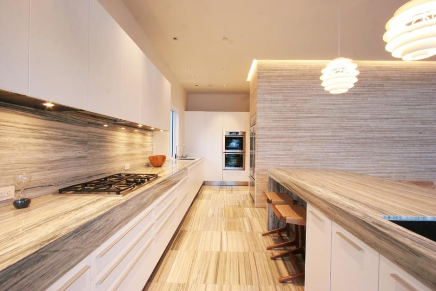 Wood-like stone unusual kitchen countertops