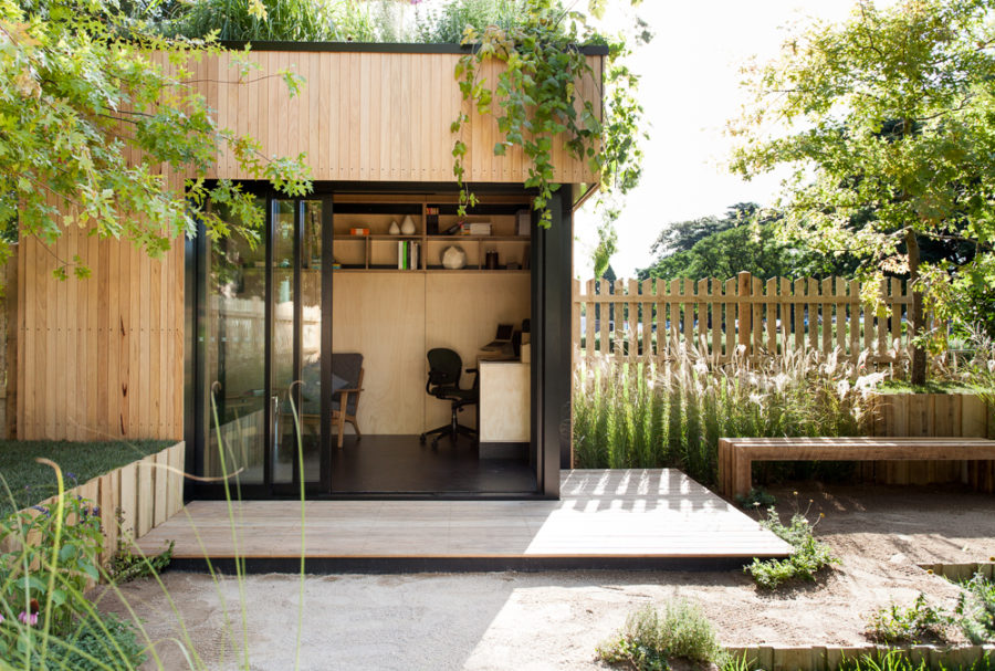 Wooden garden office