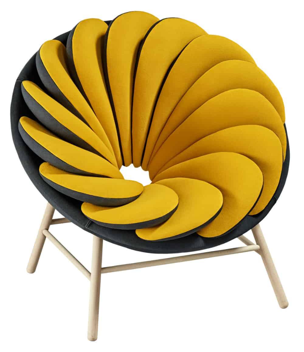 Yellow Quetzal armchair