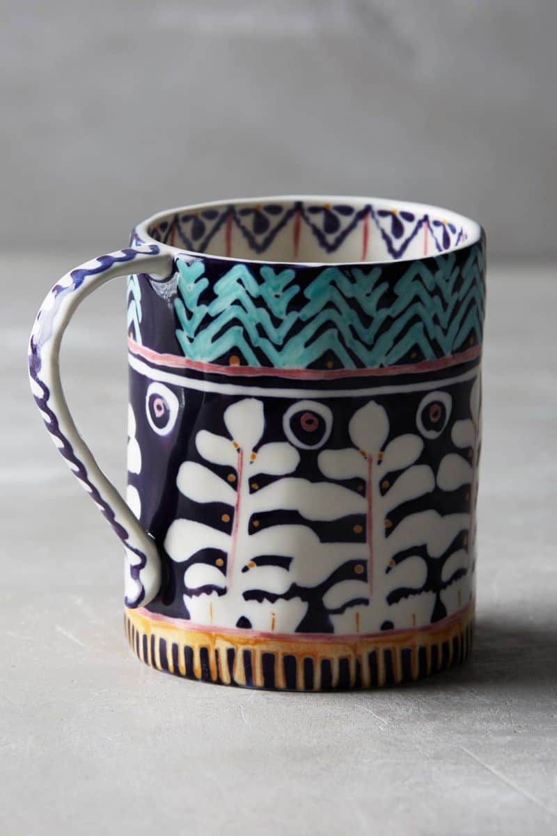 Coffee mugs unique - View In Gallery Navy Blue And White Design Mug 17 Unique Coffee Mugs To Add To Your Fall Collection
