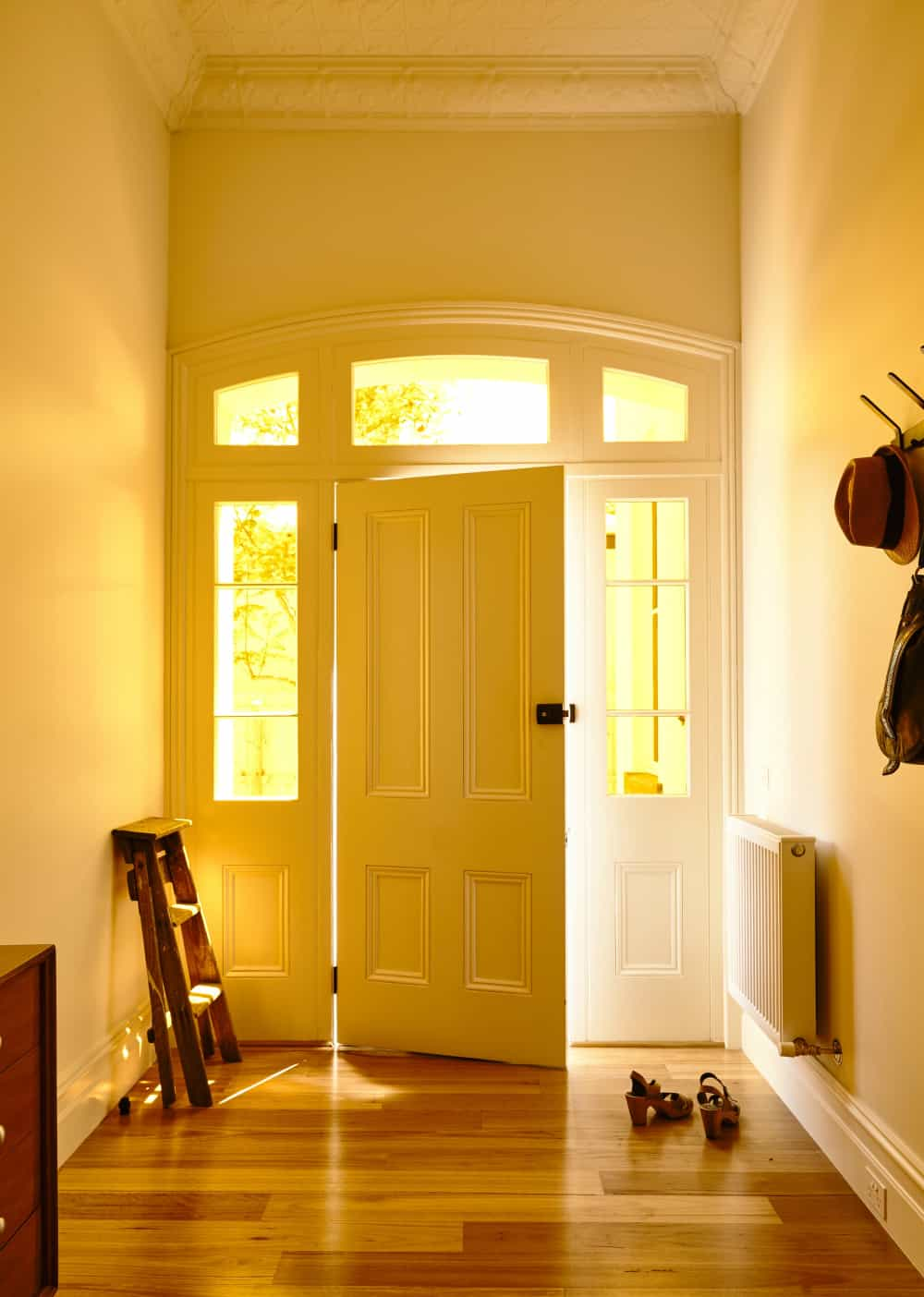 A Victorian hallway greets the residents