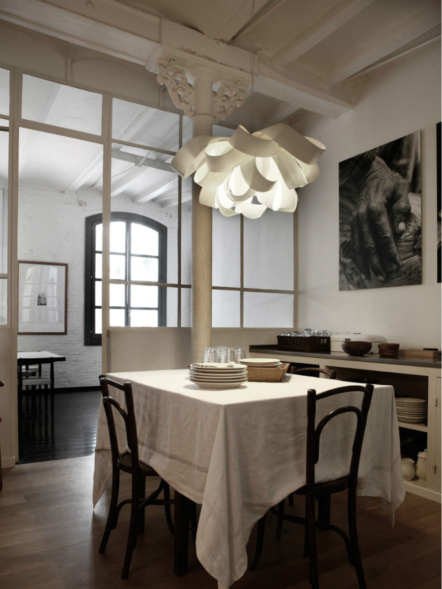 Bubble invisible chandelier view in gallery agatha light