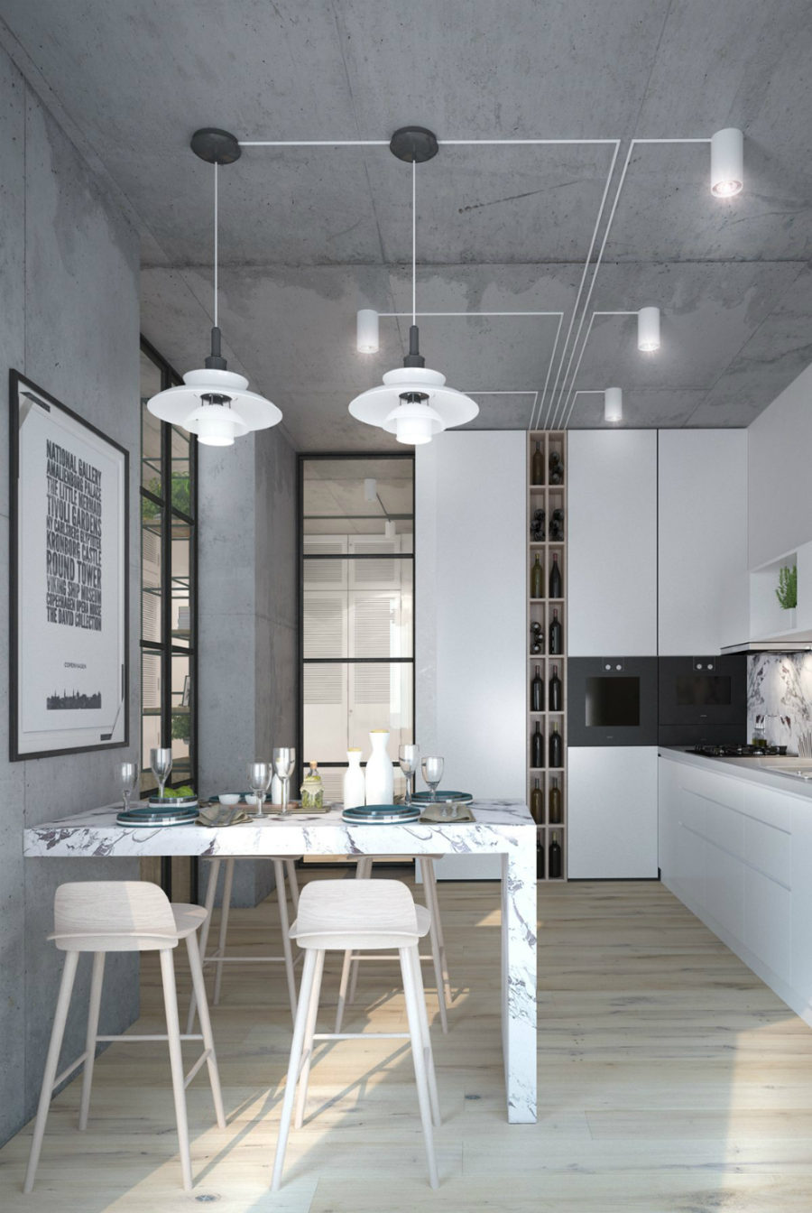 View In Gallery All Concrete Kitchen