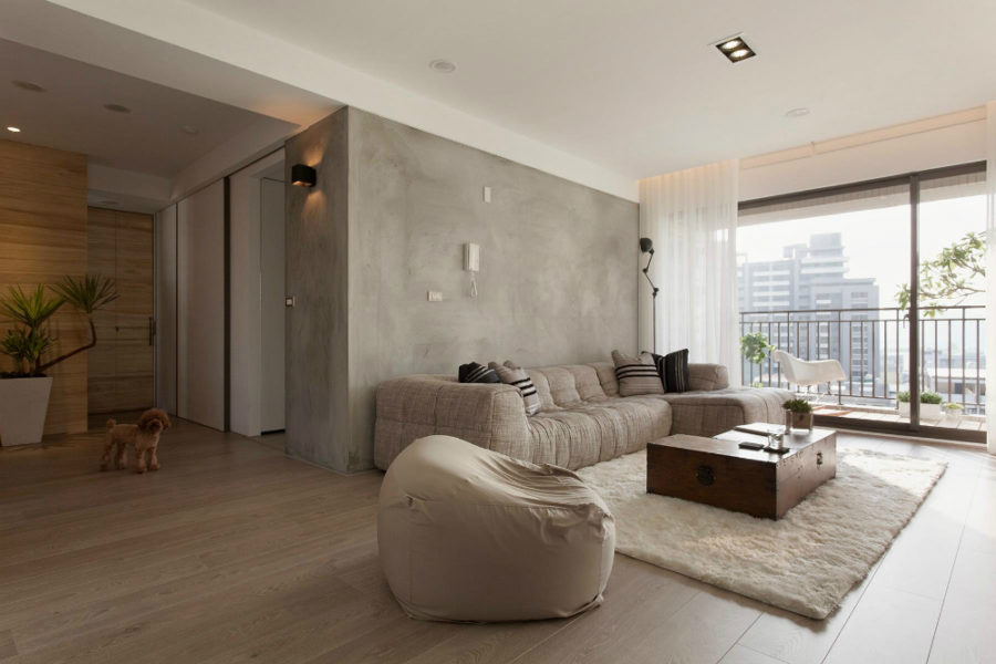 Apartment with concrete elements in Taiwan