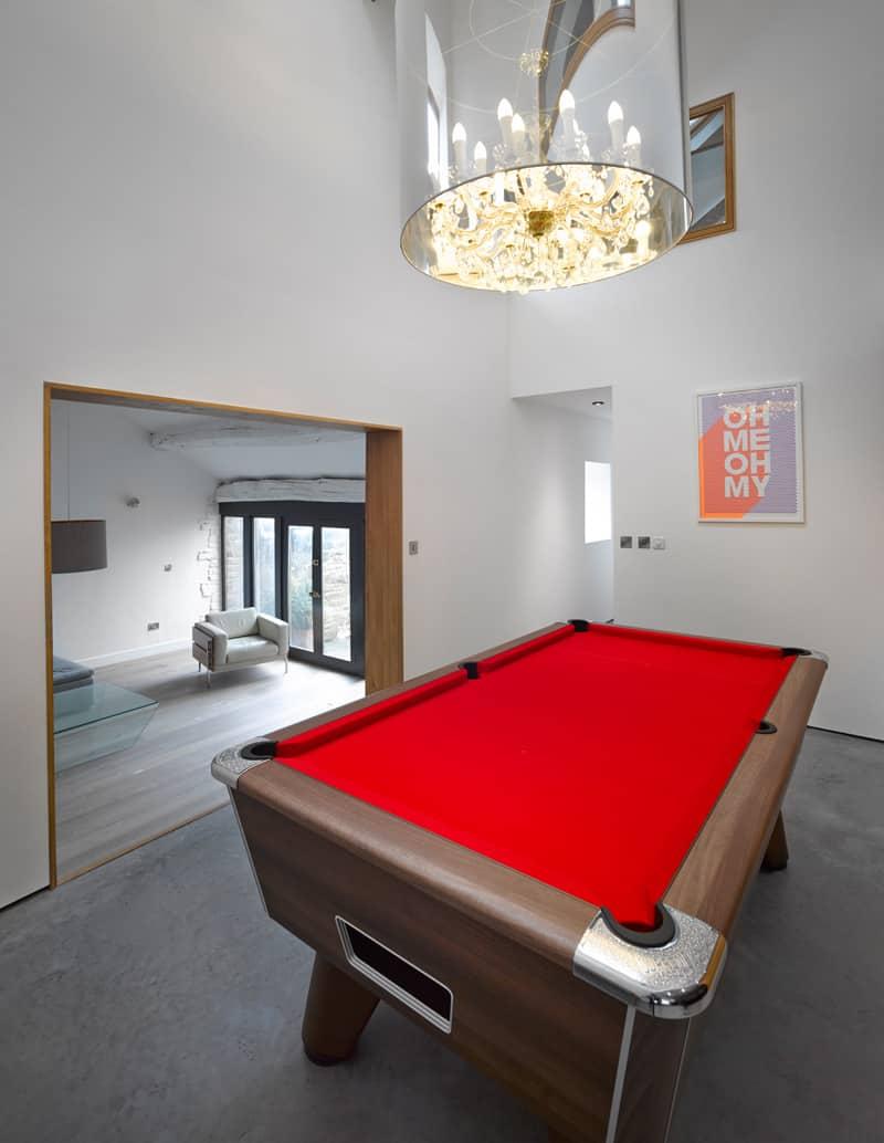 Barn pool room