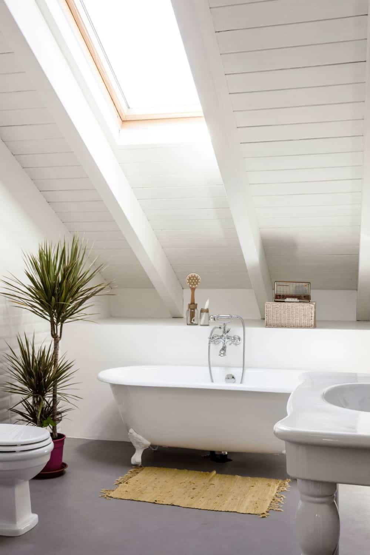 Bathroom with a skylight