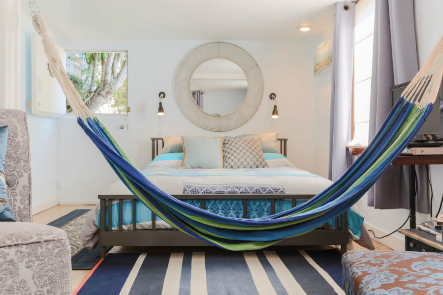 Bedroom hammock idea
