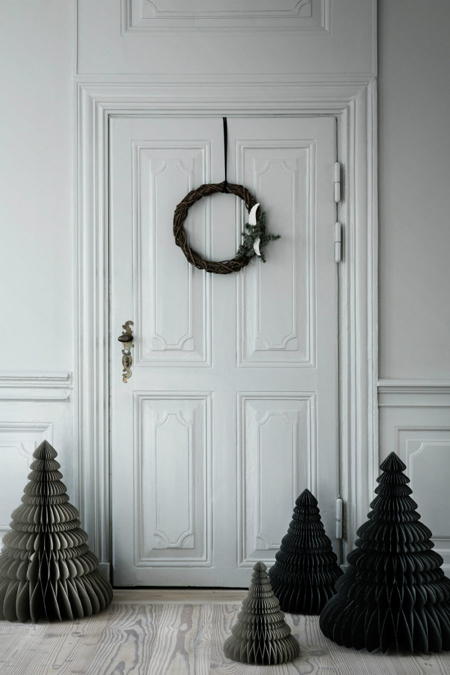 Black paper Christmas trees