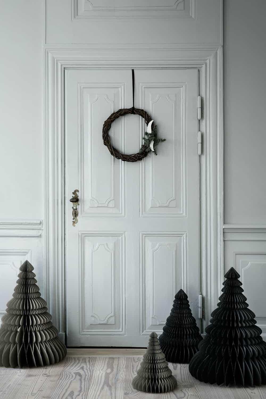 Black paper Christmas trees