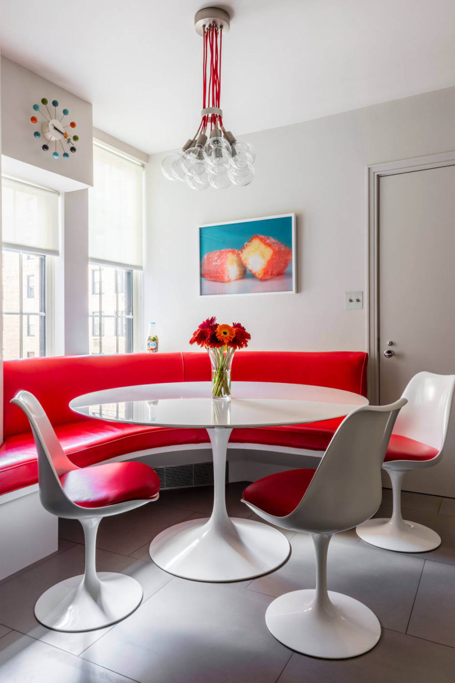 view in gallery breakfast area at park avenue apartment by pier fine associates - Breakfast Area Lighting