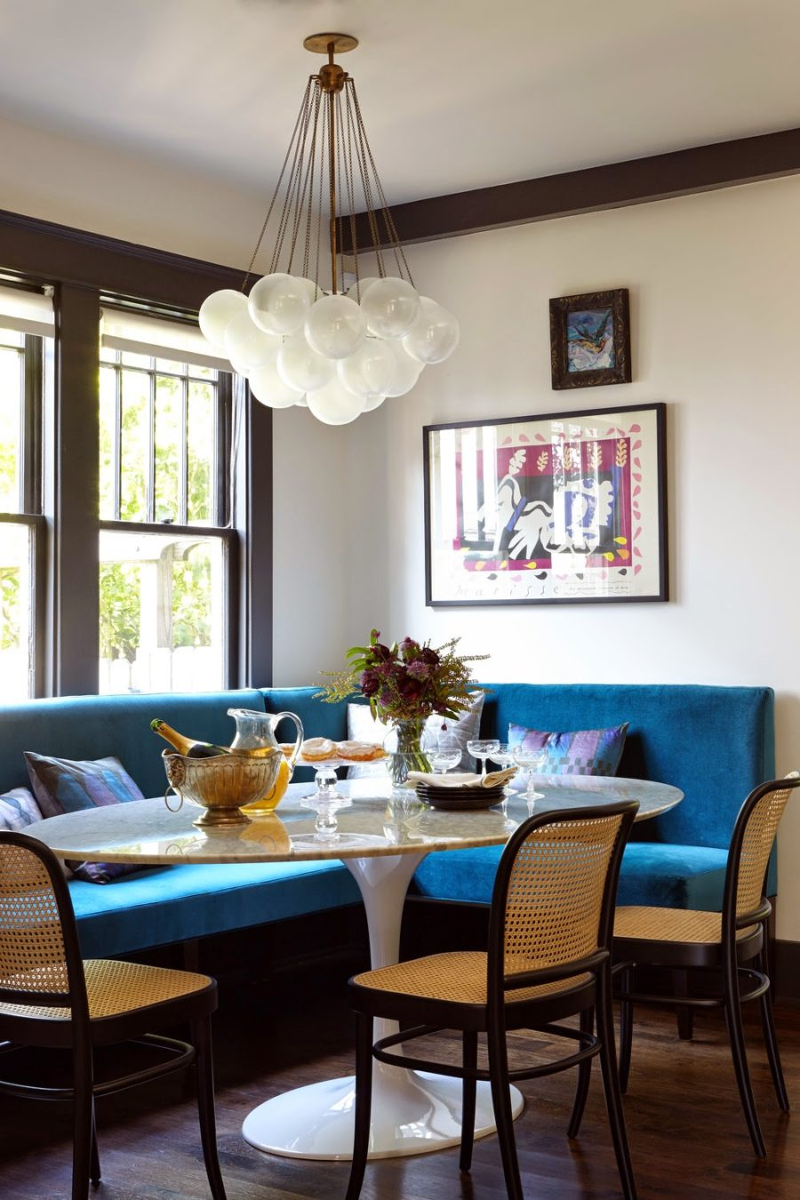 Bright bold breakfast nook