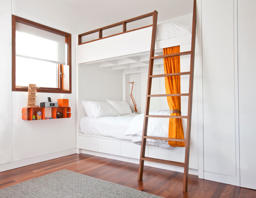 Shared Kids Bedroom By Ann Lowengart View In Gallery Built In Bunk Beds
