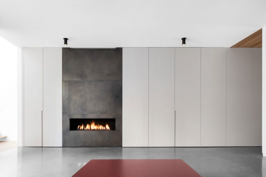 Built-in fireplace