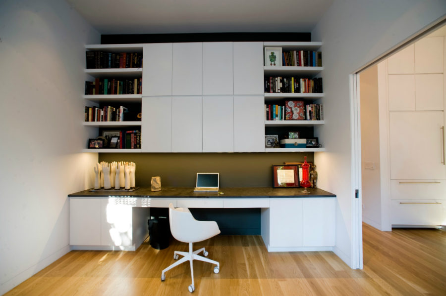 Built-in home office storage
