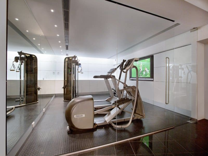 view in gallery butterfly house in sydney house fitness room - In Home Gym Designs