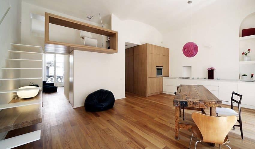 Contemporary built-in mezzanine