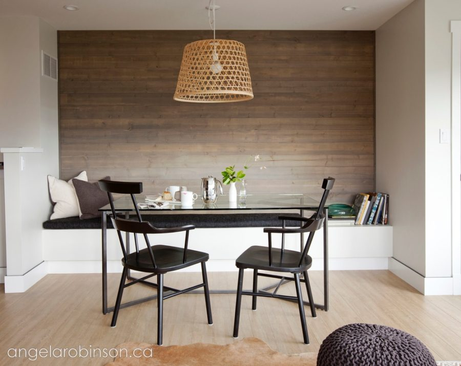 Contemporary sleek breakfast room