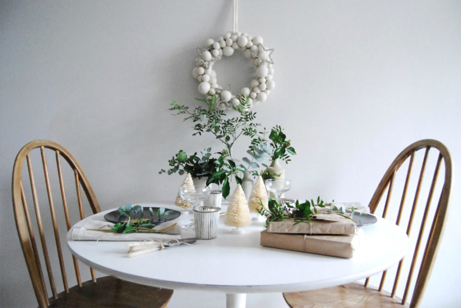Cool Christmas tablescape