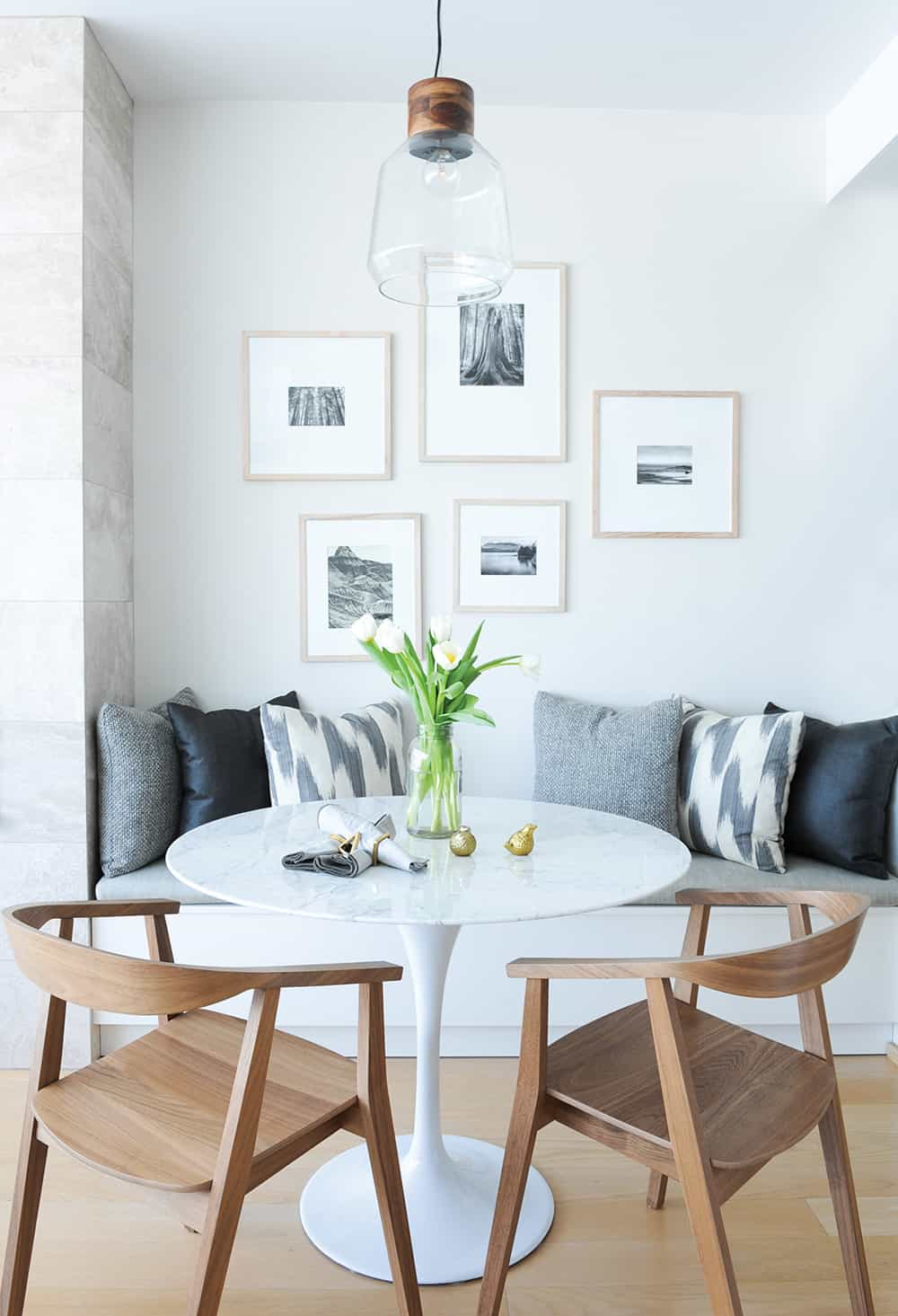 Cool modern breakfast area