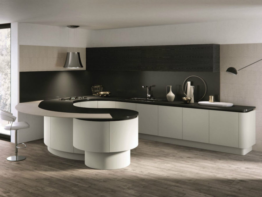 ... DOMINA Kitchen With Peninsula By Aster Cucine