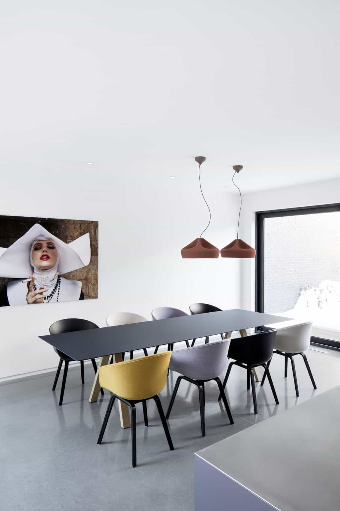 Dining area for eight