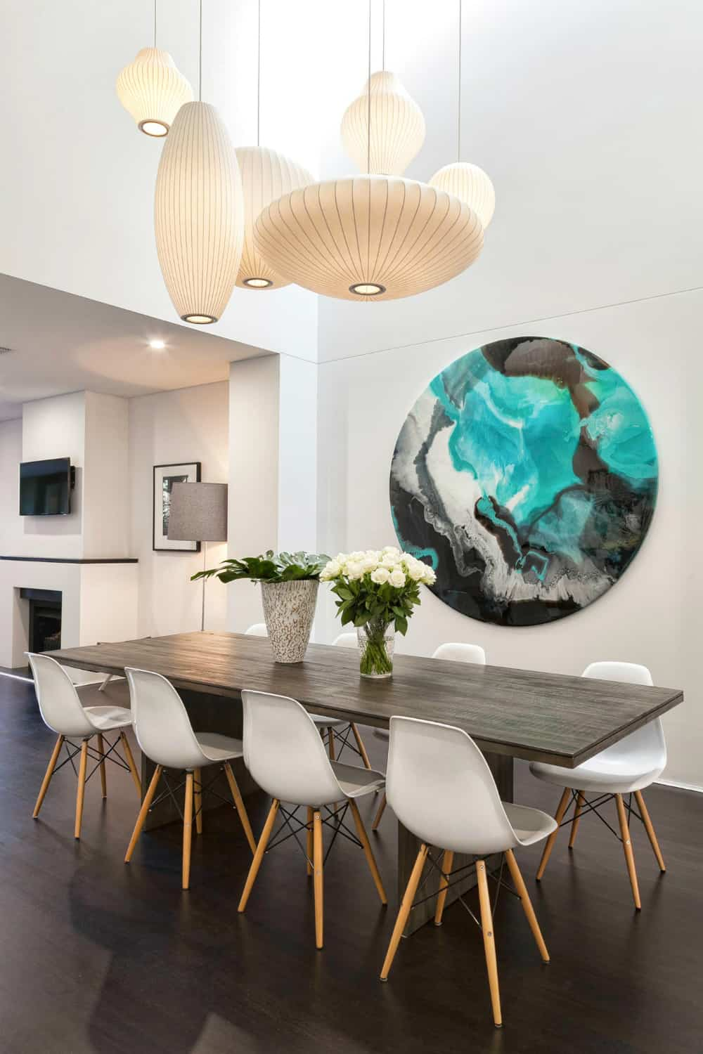 20 Dining Rooms Featuring Artworks That, Dining Room Paintings