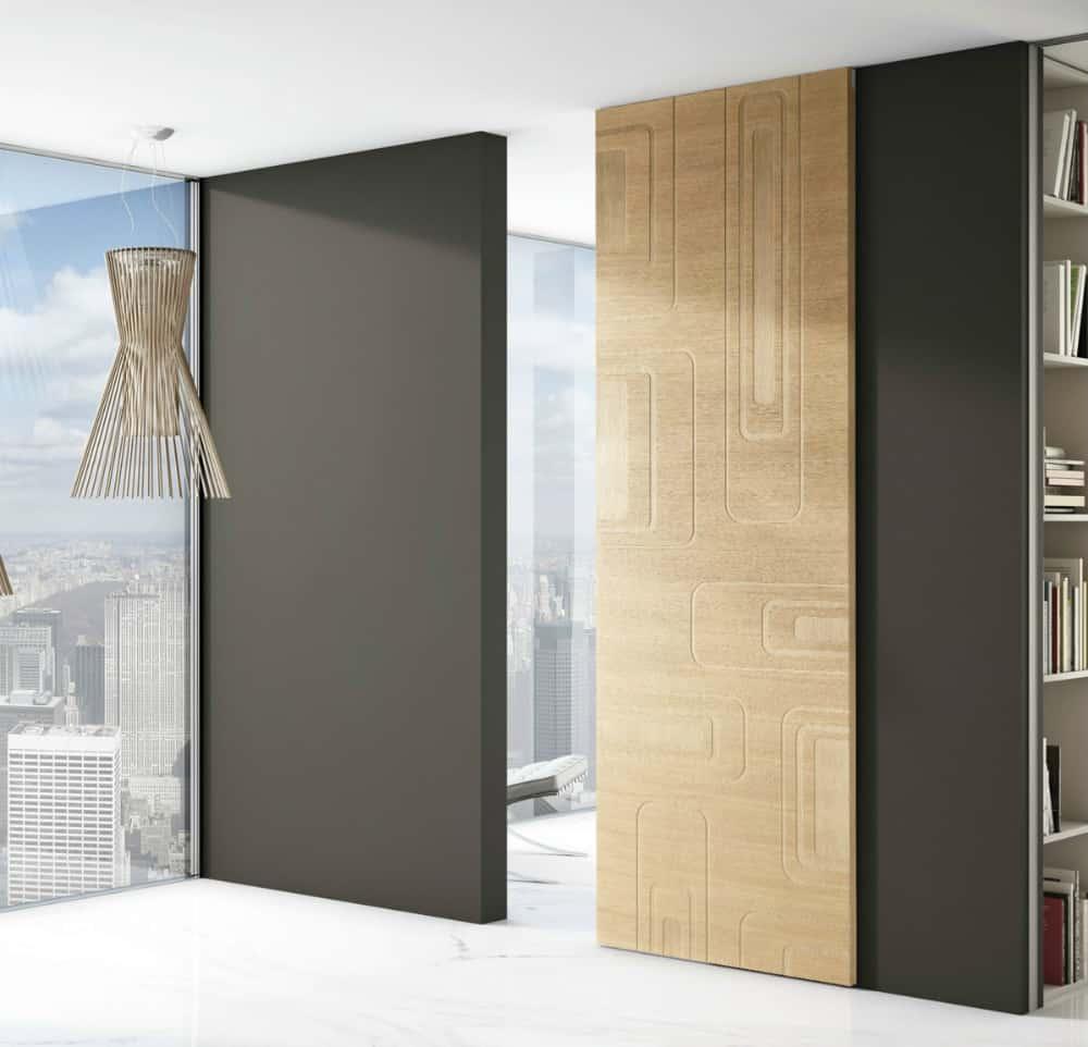 FILA decorative wooden door by Barausse