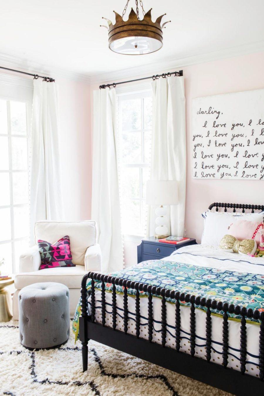 Feminine kids bedroom by Kendall Simmons