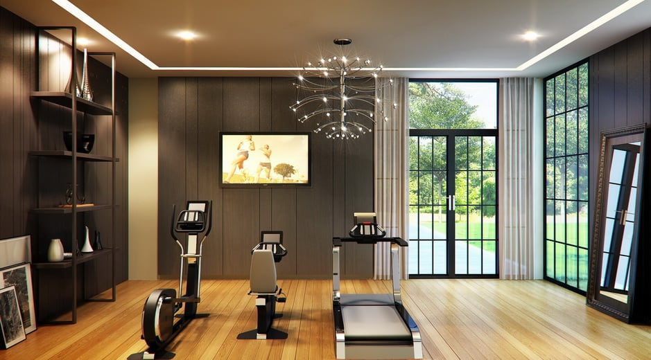 Fitness room concept