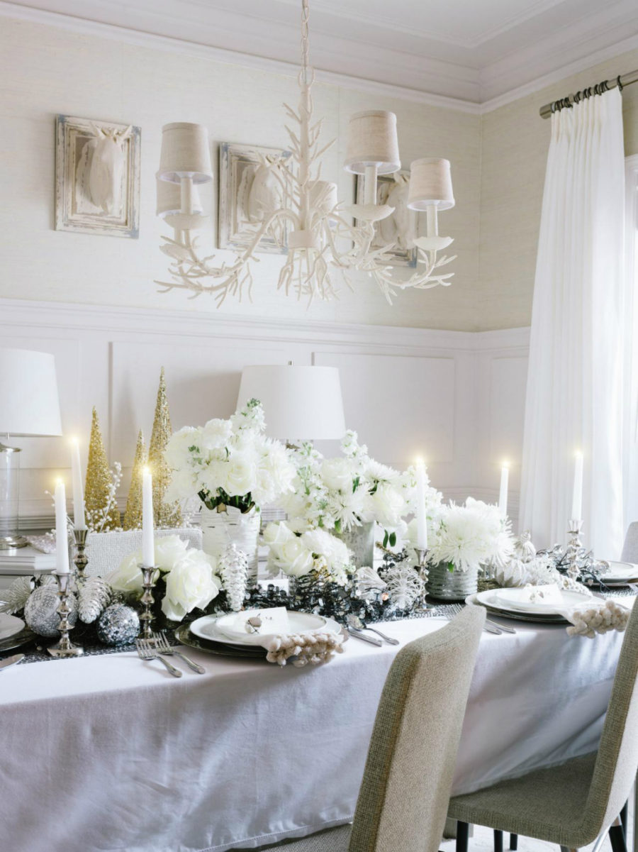 Modern christmas decor ideas are all style and chic - Modern christmas table settings ideas ...