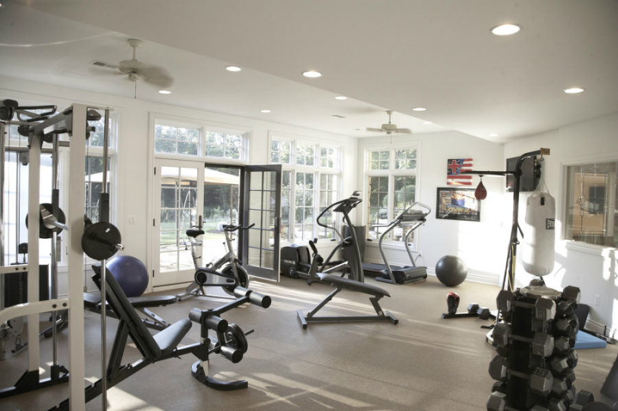 French Country Estate gym