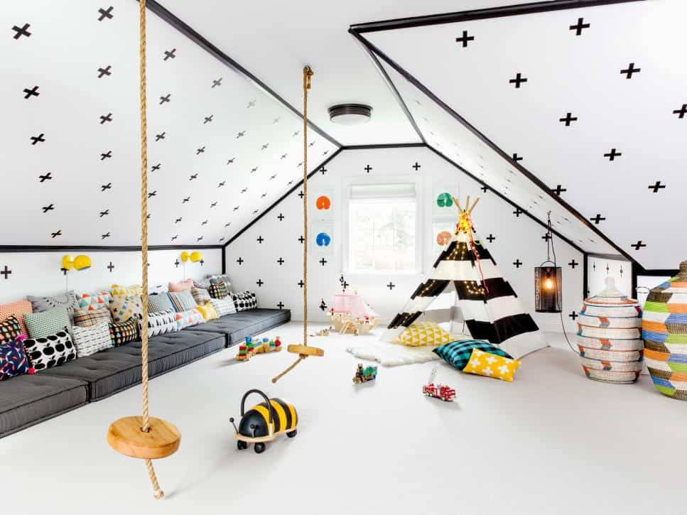 Fun kids room design by Chango and Co.