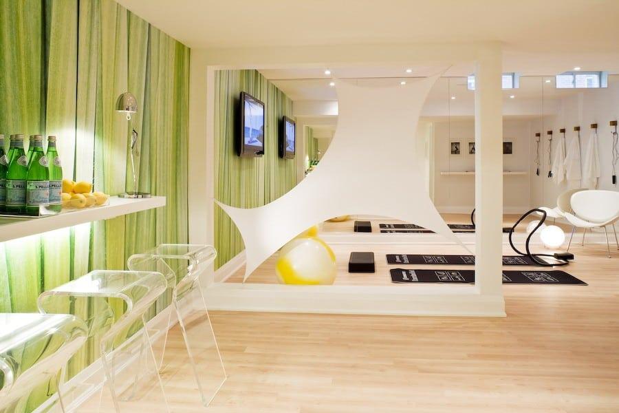 Futuristic gym room