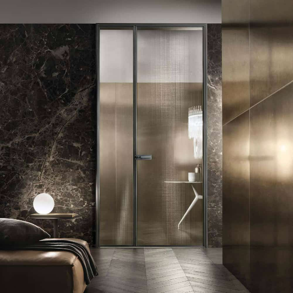 Glass door by Rimadesio Porte Battente