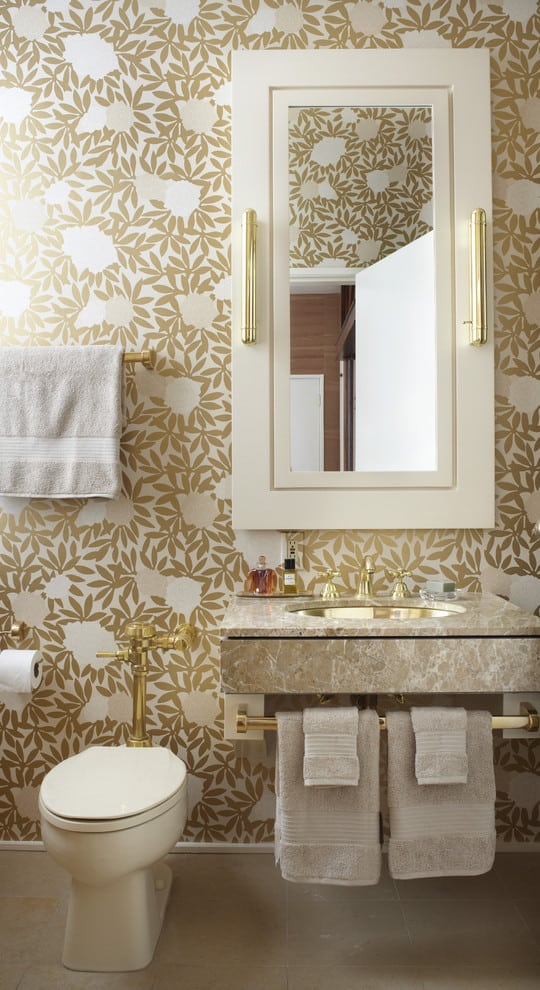 . Lust Worthy Statement Bathroom Wallpapers