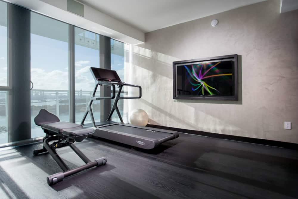 Gym at a Miami Beach Penthouse
