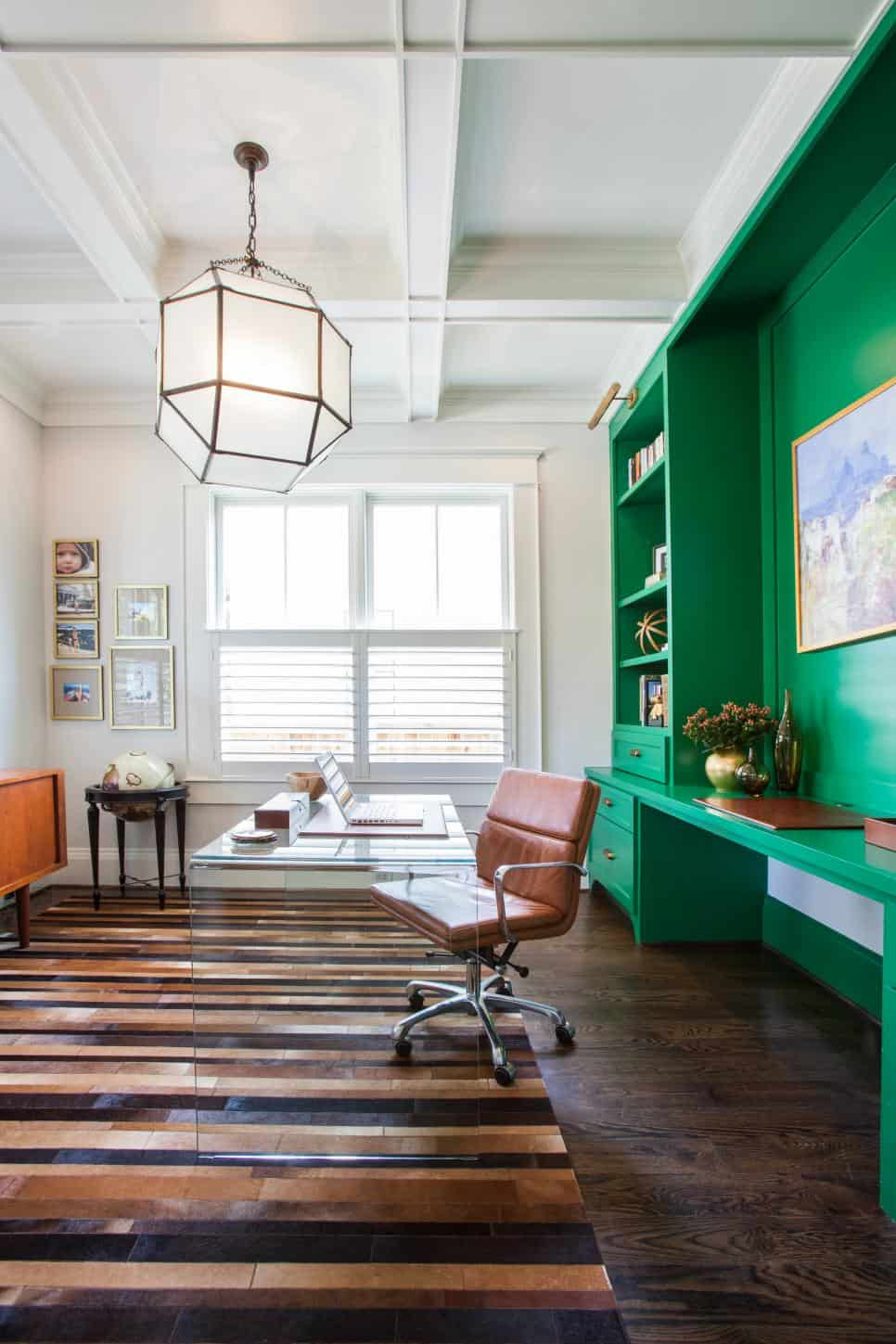 Home office built-in storage by Marie Flanigan Interiors