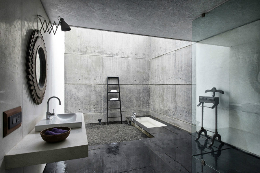 Stylish Concrete Interiors for Contemporary Homes