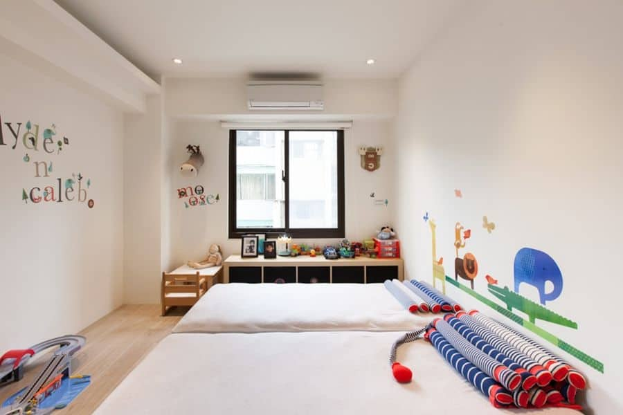 Kids bedroom in a contemporary apartment