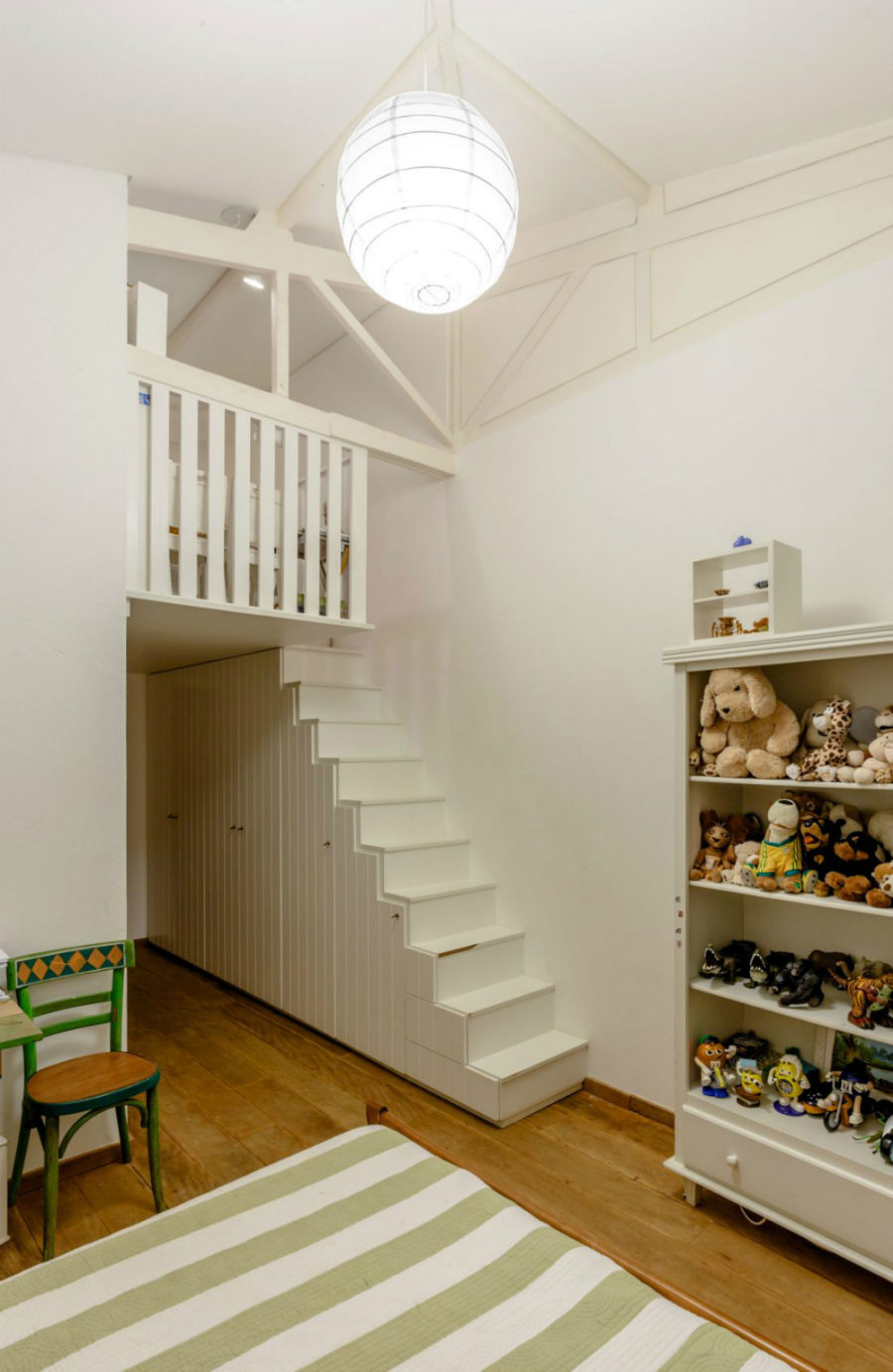 Kid's room with a loft
