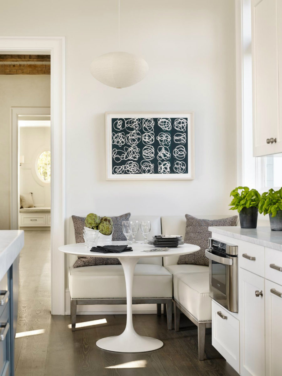 Modern breakfast nook ideas that will make you want to for Small eat in kitchen decorating ideas