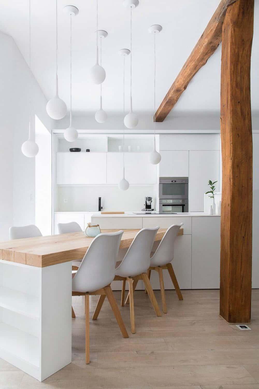Kitchen island peninsula dining table