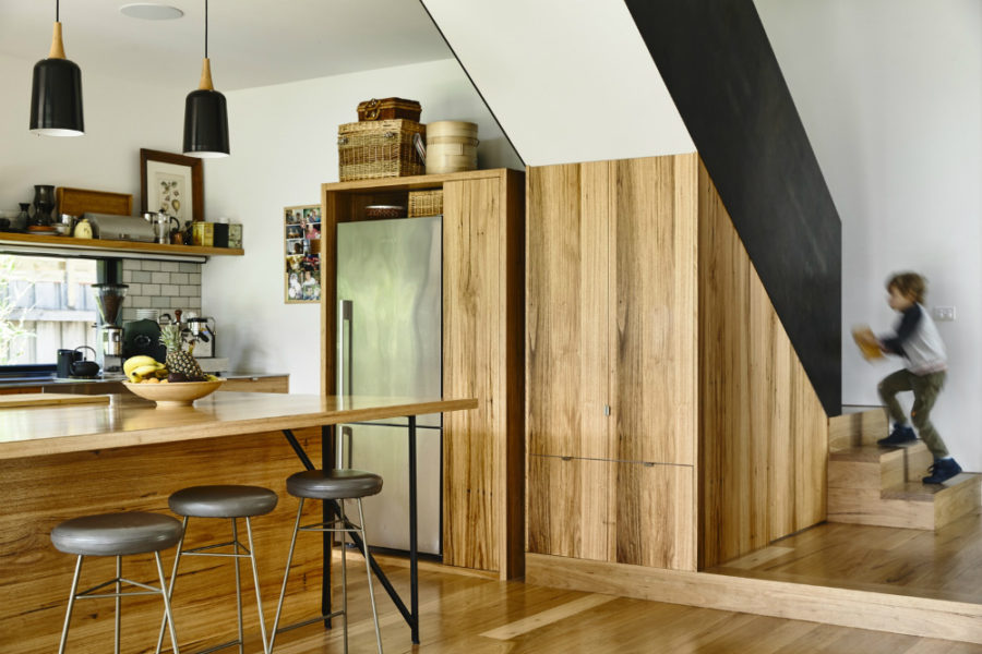 Kitchen made fully out of wood