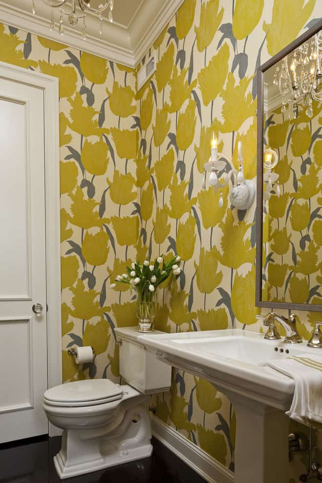 Luxury Bathroom Wallpaper Design