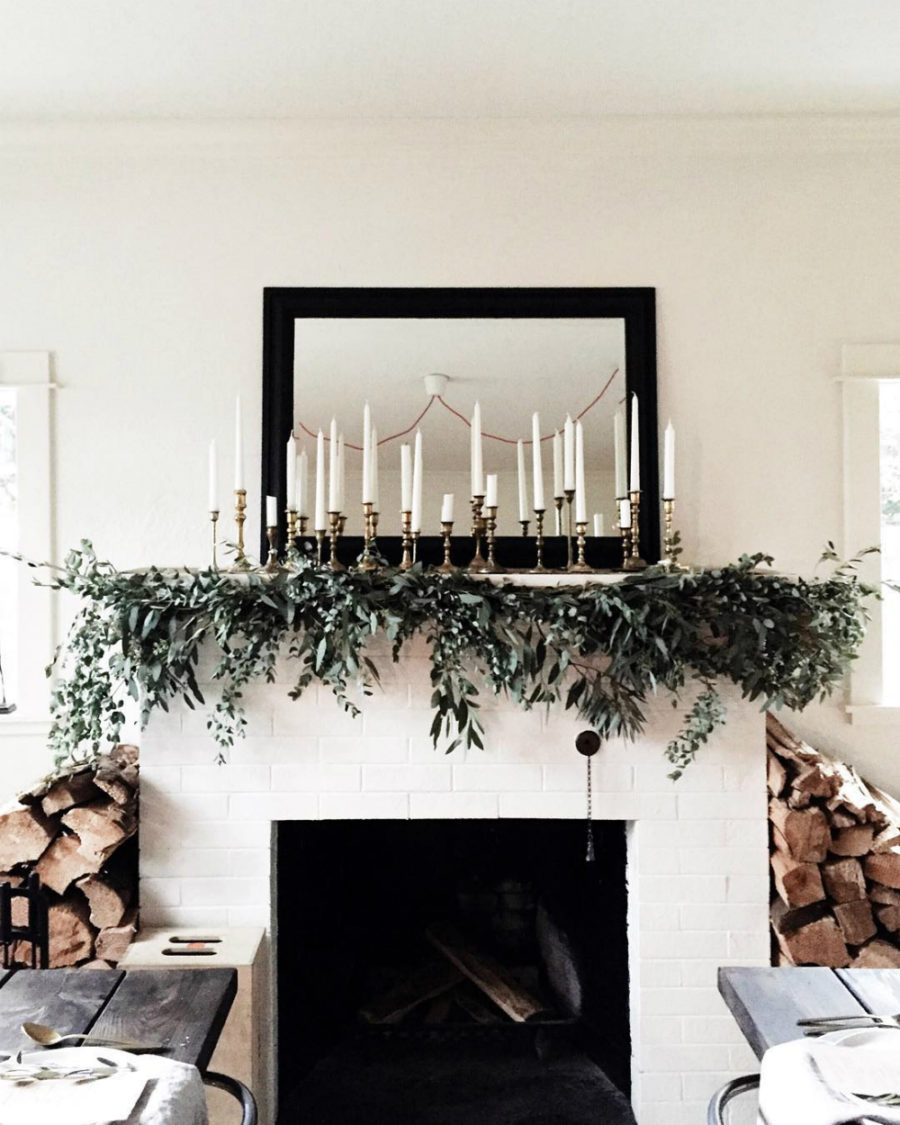 Mantel holiday decor