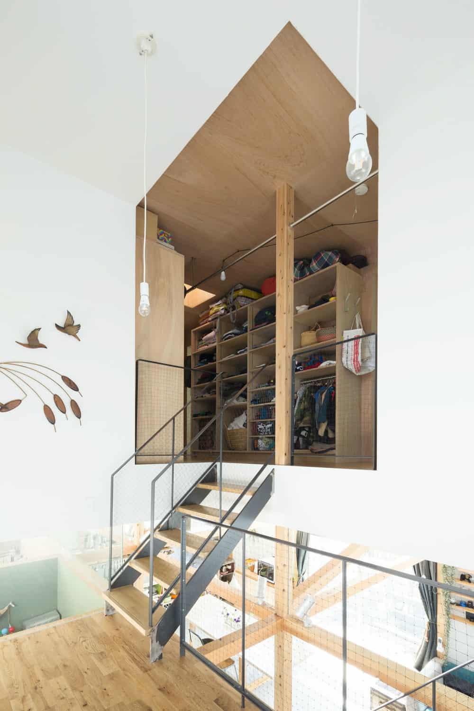 Mezzanine closet built-ins