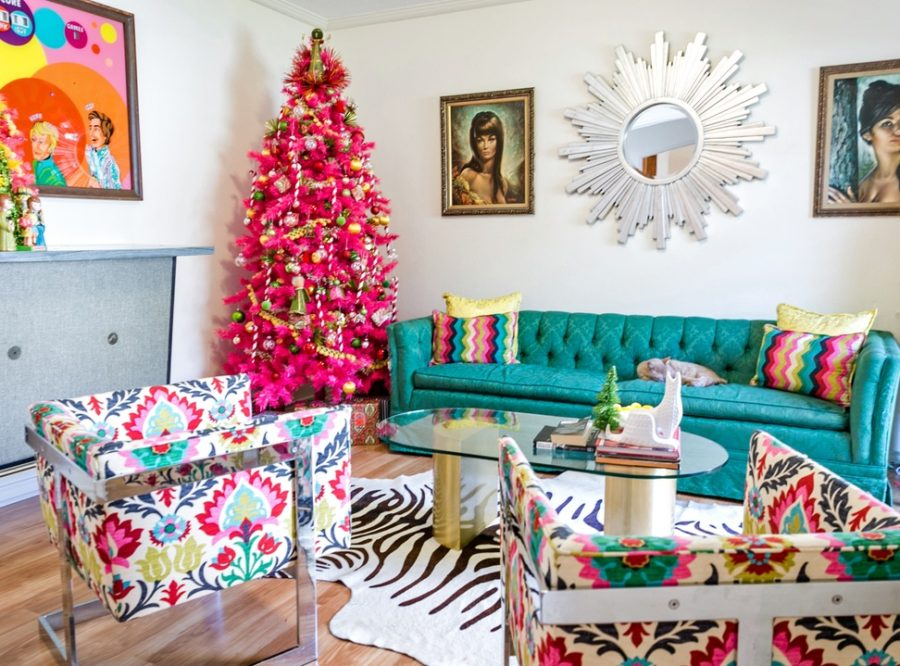 mid century modern christmas decor ideas - Modern Christmas Decorating Ideas