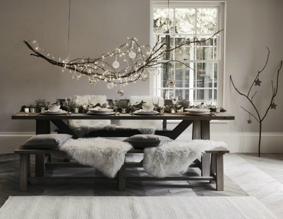 view in gallery modern christmas table decor - Modern Christmas Decorating Ideas