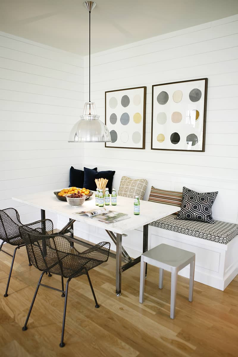 Modern breakfast nook by H2 Design+Build