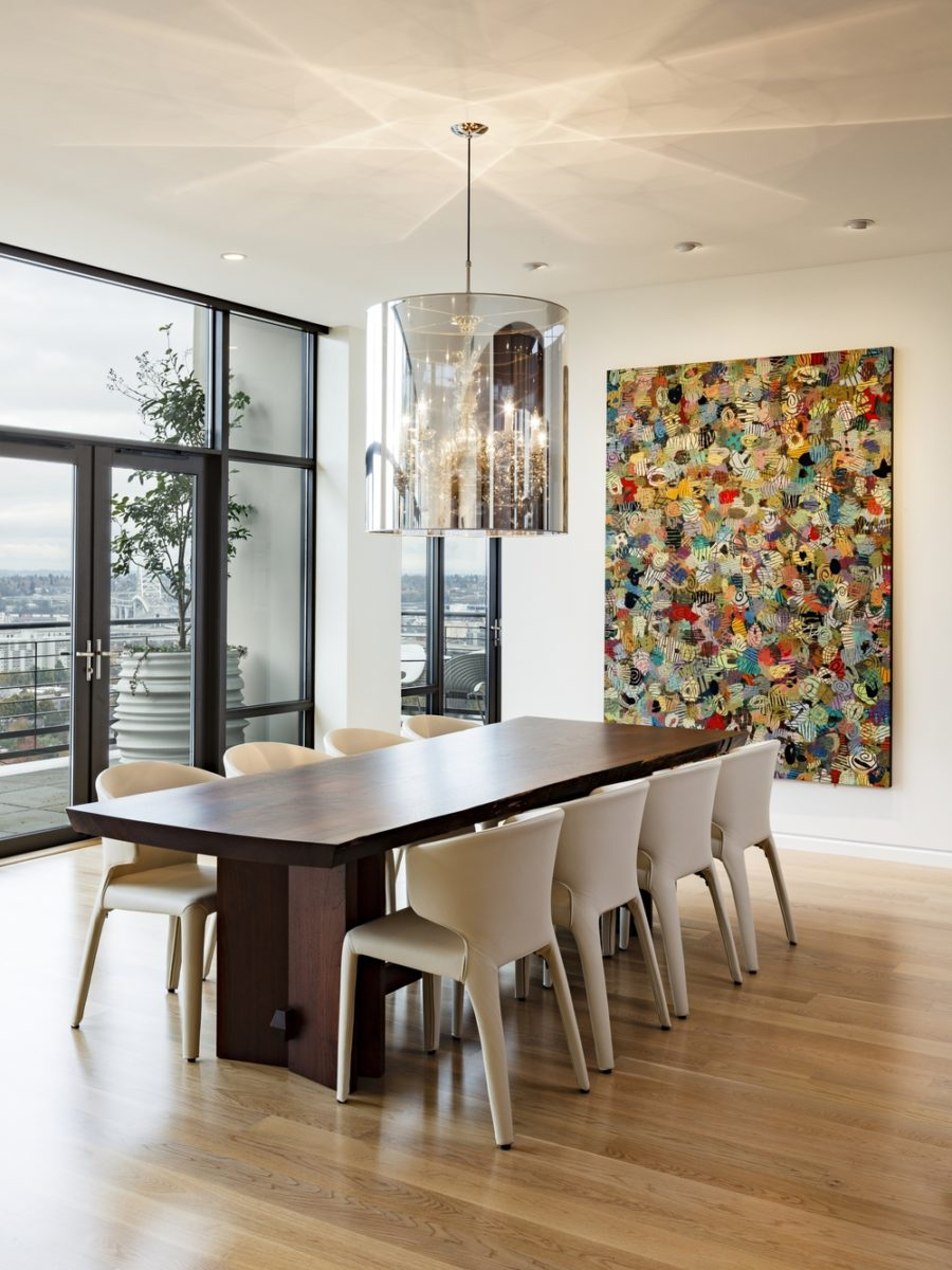 Nob Hill Penthouse dining room by Maven Interiors